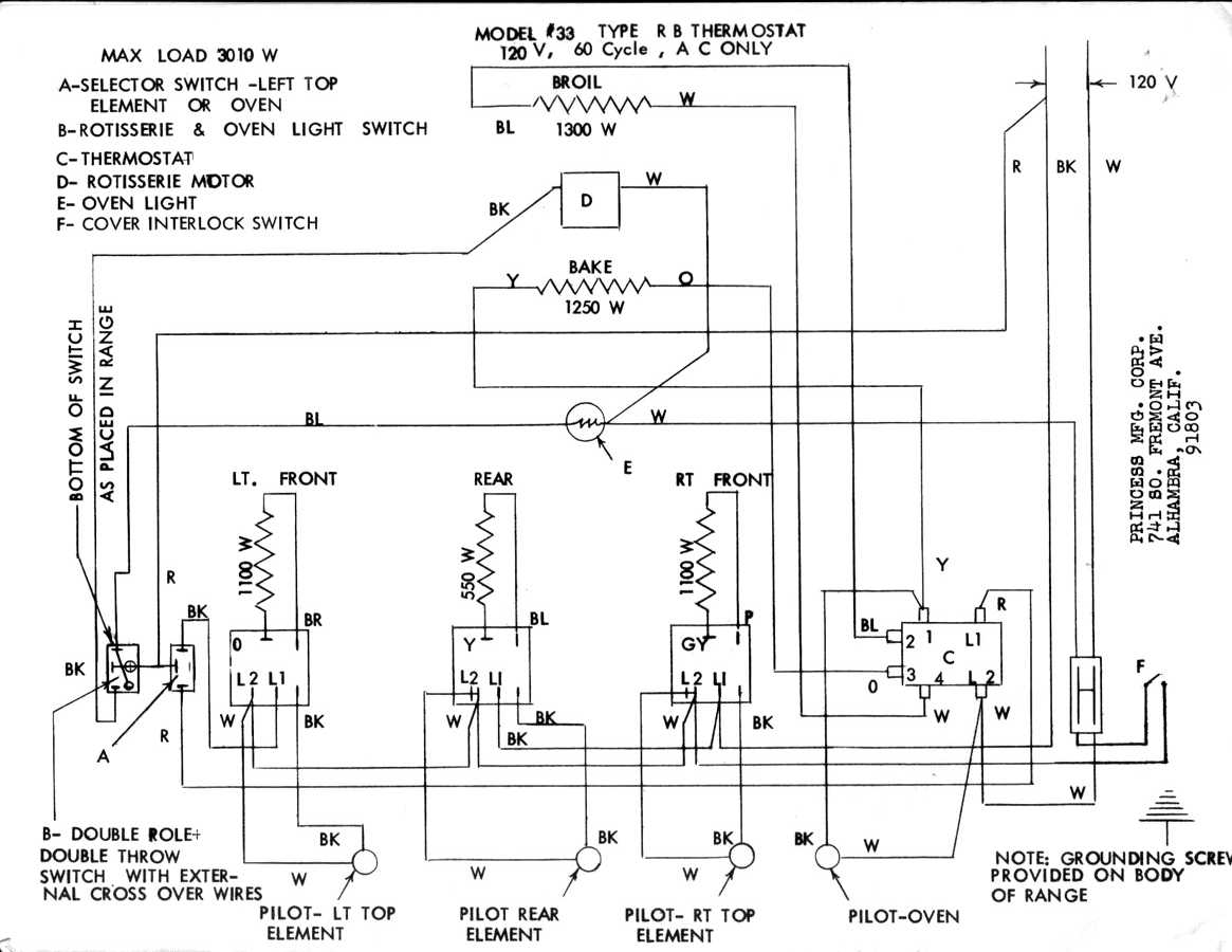 Equipment Baking Oven Wiring Diagram To Hear From You With A Description And Maybe Some Pictures Or Scans Of Manuals Thanks Terry Robb For The Princess Electric Stove